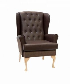 "3""wider button back cecelia, www.homecarechairs.co.uk , high seat chairs, Fireside Chairs, high back chairs, wingback chair, elderly chairs."