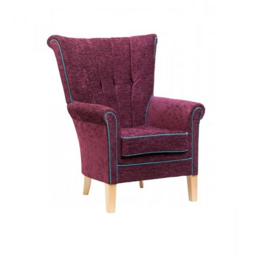 Shannon 1 Seat Lounge Chair, www.homecarechairs.co.uk , high seat chairs, Fireside Chairs, high back chairs, wingback chair, elderly chairs.