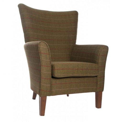 Amanda high back chair in Panaz Berwick