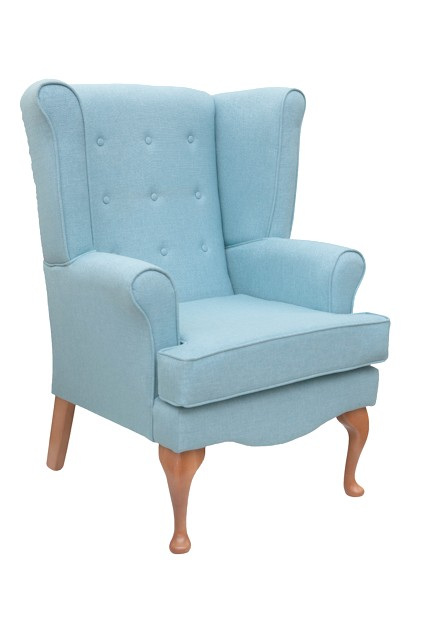 Calder high seat chair in Waterproof Highland Fabric, www.homecarechairs.co.uk , high seat chairs, Fireside Chairs, high back chairs, wingback chair, elderly chairs.