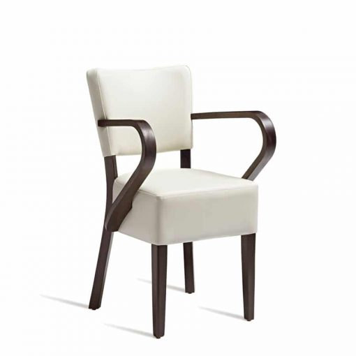 Club arm chair | upholstered in faux leather