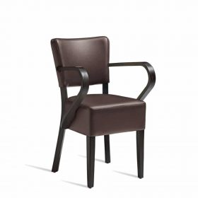 CLUB-Arm-Chair-ZA.390C-Wenge-Brown