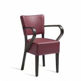 CLUB-Arm-Chair-ZA.393C-Wenge-Red