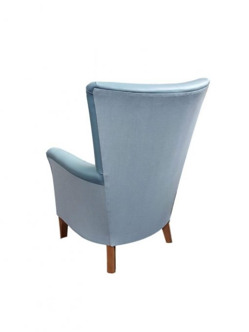 Amanda high back chair with Aston vinyl inner and Highland fabric outer, high back chairs, wingback chair, elderly chairs, Fireside Chairs, high back chairs