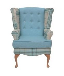 Calder high seat chair in Panaz Oscar check, www.homecarechairs.co.uk , high seat chairs, Fireside Chairs, high back chairs, wingback chair, elderly chairs.