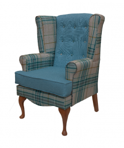 Calder high seat chair in Panaz Hunter check and Highland