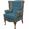 Calder high seat chair in Panaz Hunter check and Highland, www.homecarechairs.co.uk , high seat chairs, Fireside Chairs, high back chairs, wingback chair, elderly chairs.