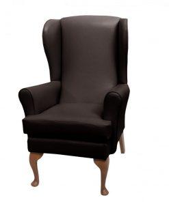 lc08 vinyl 2, www.homecarechairs.co.uk , high seat chairs, Fireside Chairs, high back chairs, wingback chair, elderly chairs.