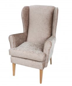 Alisson Orthopedic high seat chair in Darcy soft chenille, www.homecarechairs.co.uk , high seat chairs, Fireside Chairs, high back chairs, wingback chair, elderly chairs.