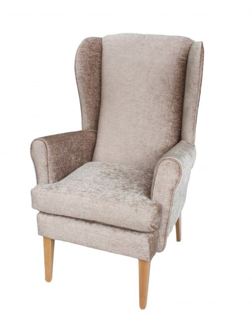 Alisson Orthopedic high seat chair in Darcy soft chenille