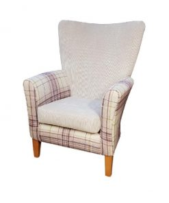 Amanda Upholstered High Back Chair